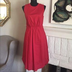 Madewell Lakeshore Red Dress 4